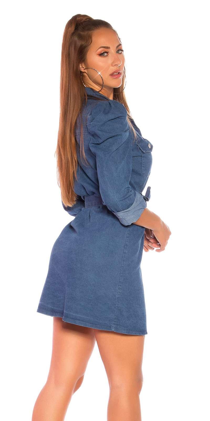 Jeans Kleid  Minikleid / Longshirt  Dunkelblau