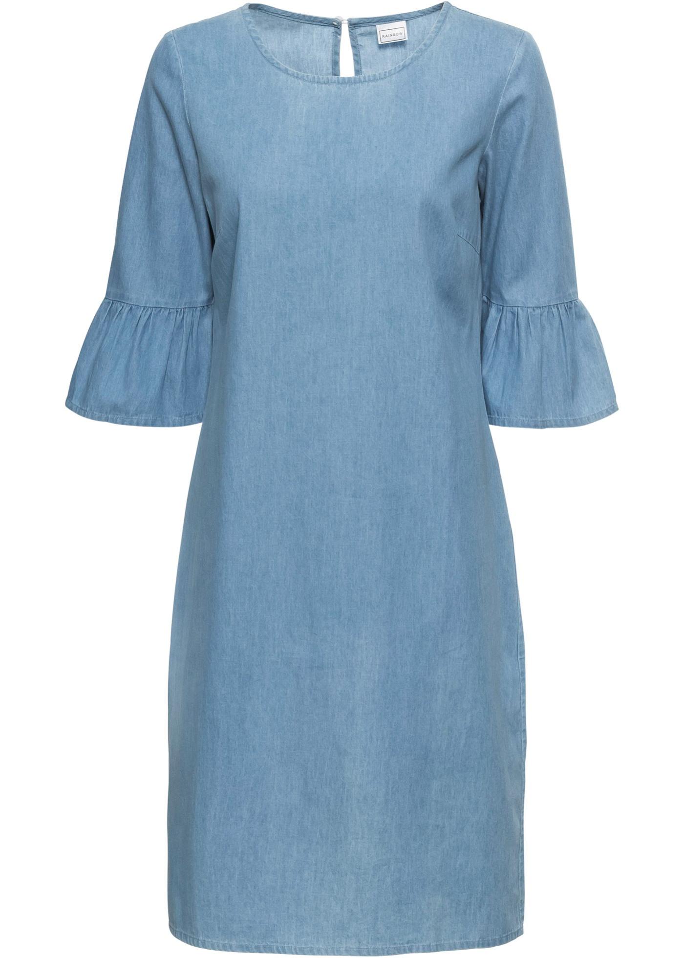 Jeanskleid Blue Bleached  Rainbow Online Kaufen  Bonprixat
