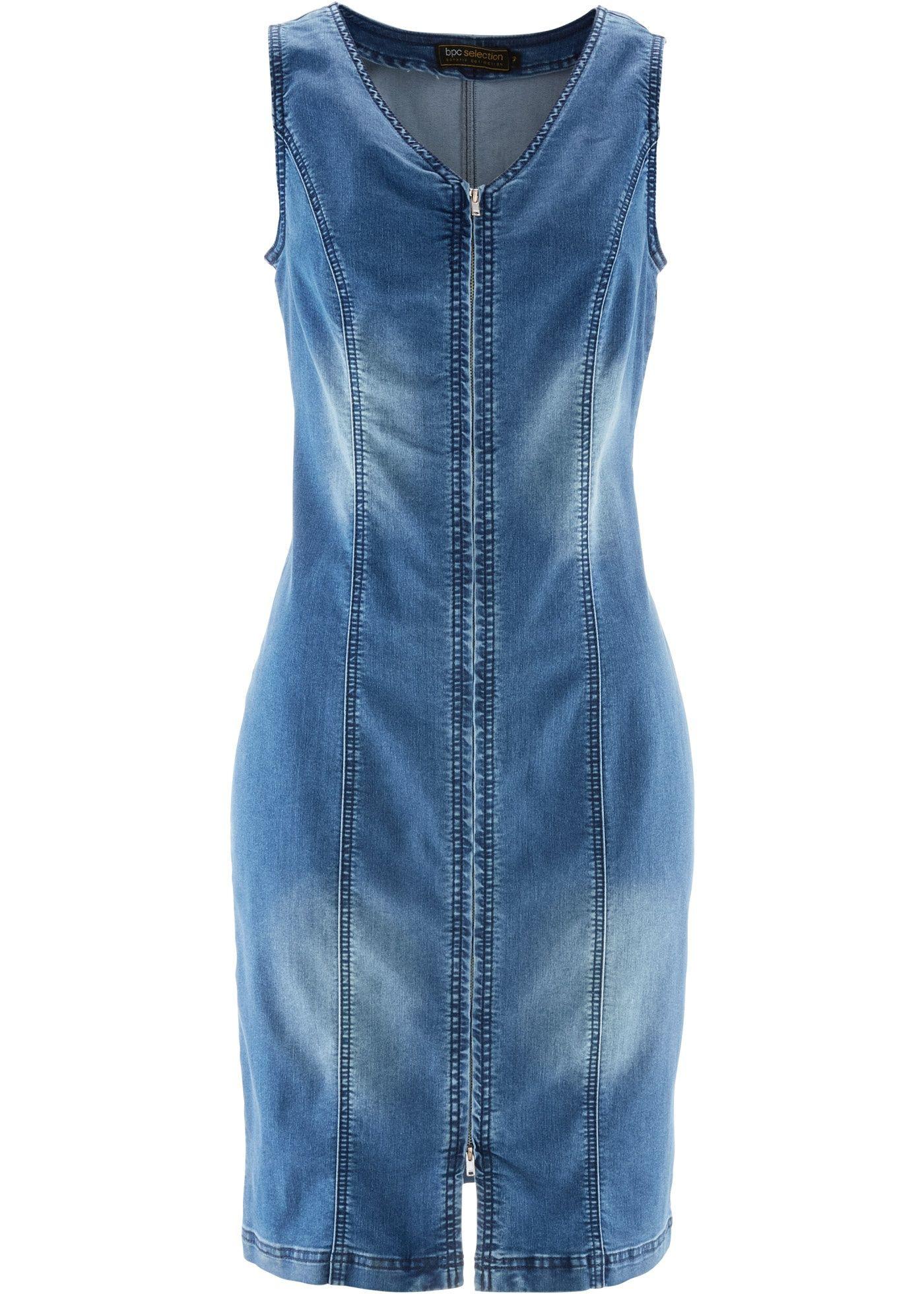 Jeanskleid Mit Rei Verschluss Blue Stone  Bpc Selection