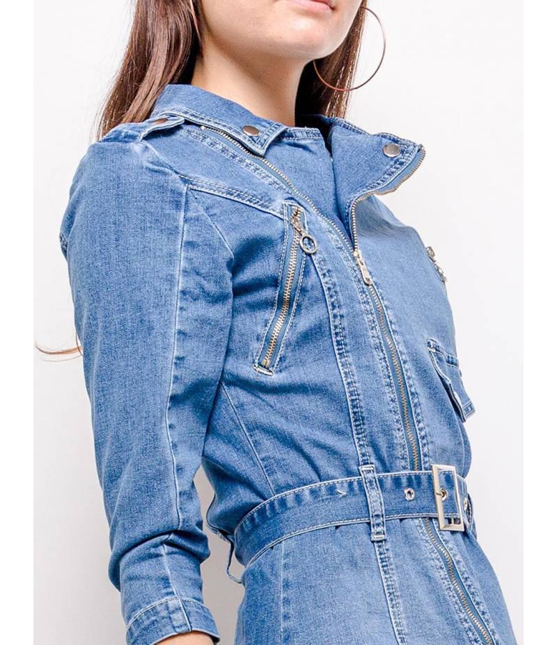 Jeanskleid Realty  Gürtel  Blau All Dresses