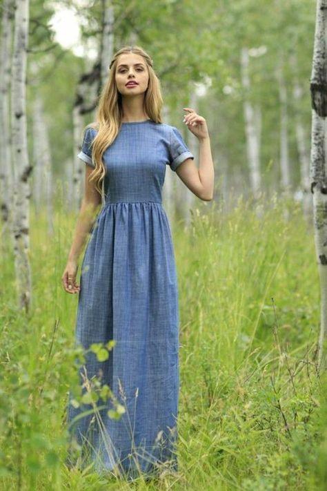 Jeanskleider So Zeigen Sie Stil Mit Einem Jeanskleid