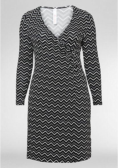 Jerseykleid In Wickeloptik Mit Bildern  Modestil