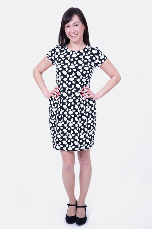 Jerseykleid Mit Tulpenrock Nähen  Pattydoo Nähblog