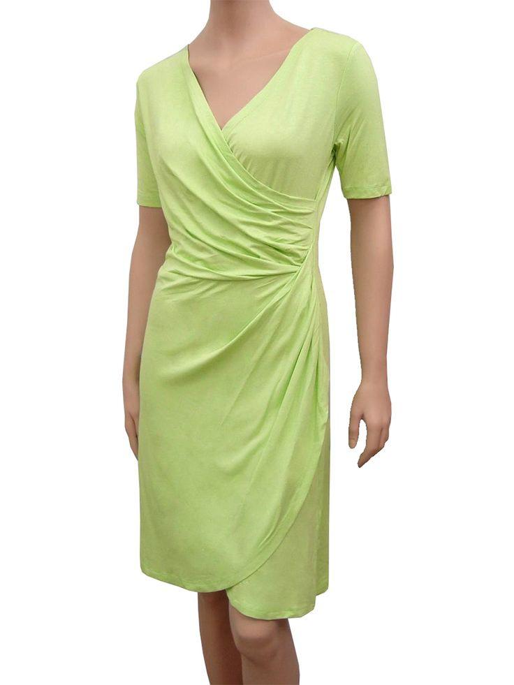 Jerseykleid Wickeloptik Pistazie Bei Meinkleidchen Kaufen
