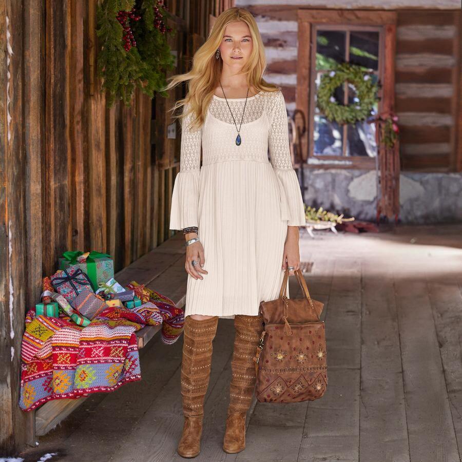 Josalyn Dress  Kleider Für Kleine Strickrock Kleider