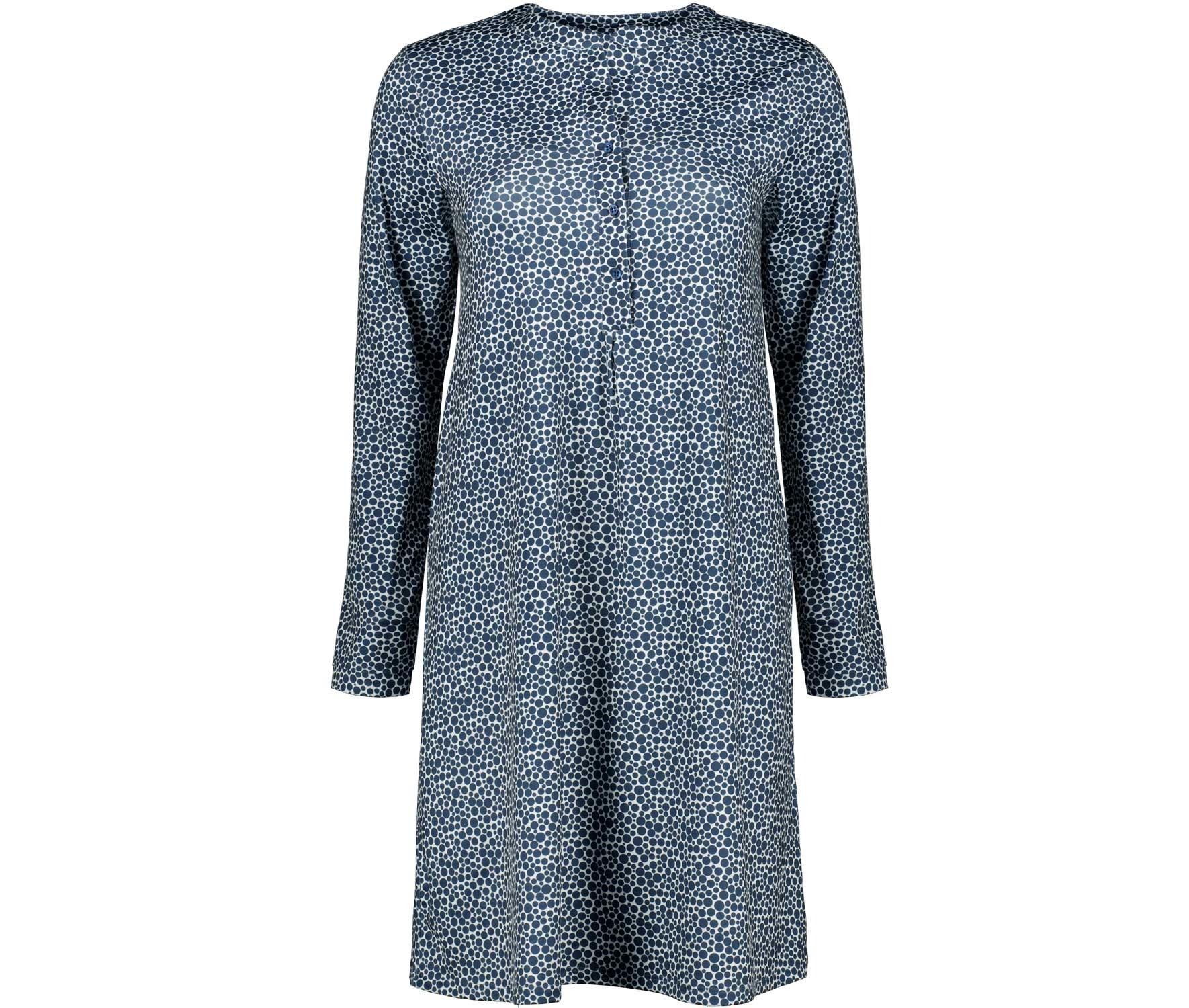 Julia Brown Damen Kleid Mit Knopfleiste Punkte