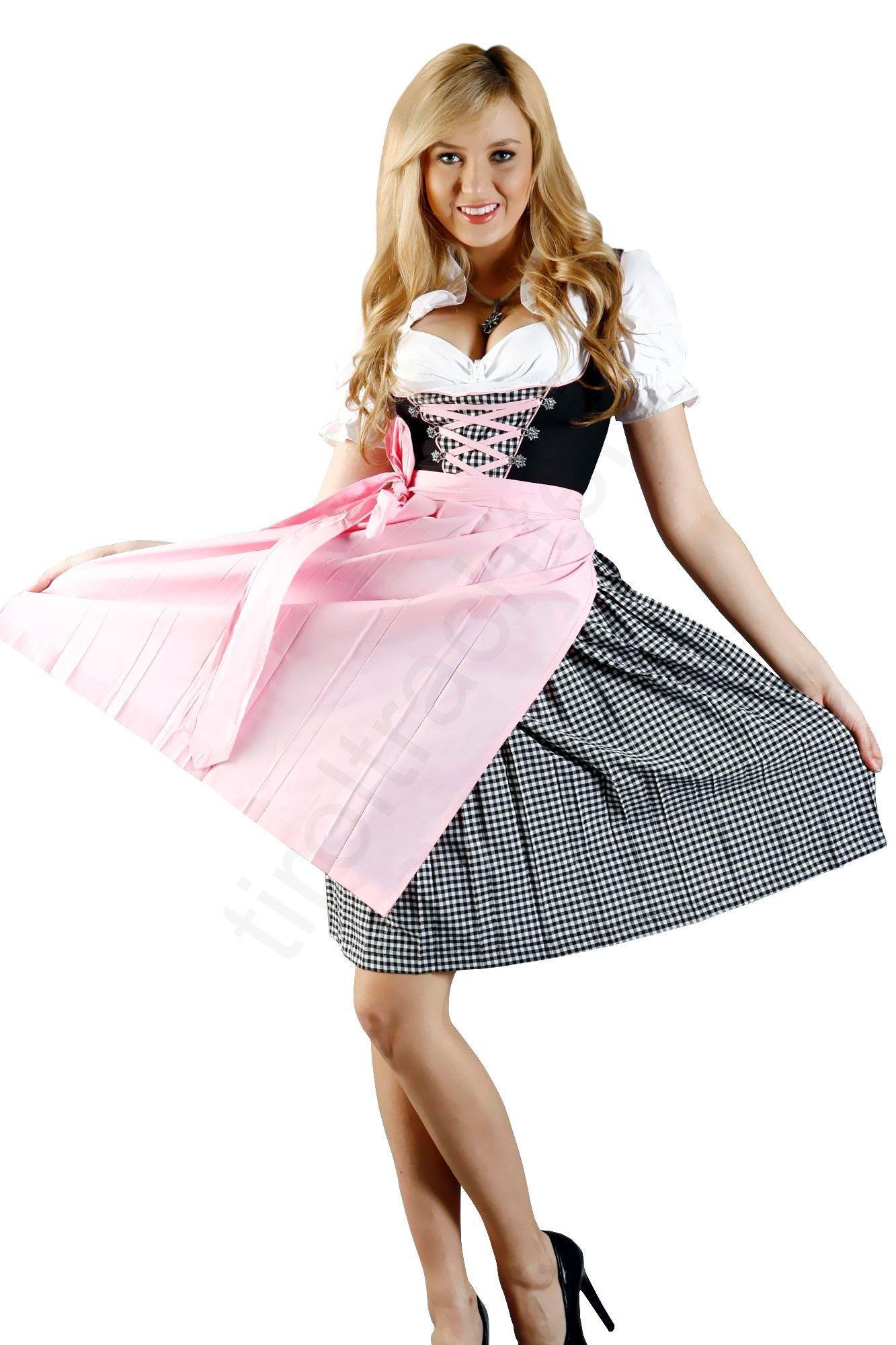 Jung Und Trendy Wirkt Dieses 3Teilige Dirndl Kleid Und