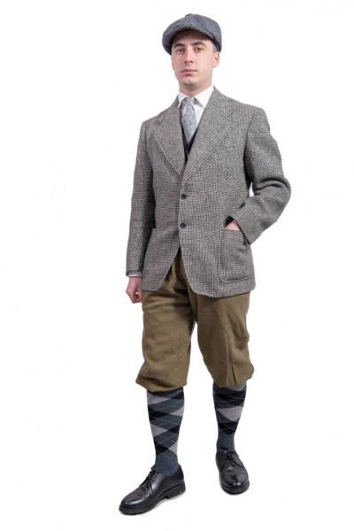 Junge Mann Mit Kleidung Und Mütze In Der 20Er Jahre Stil