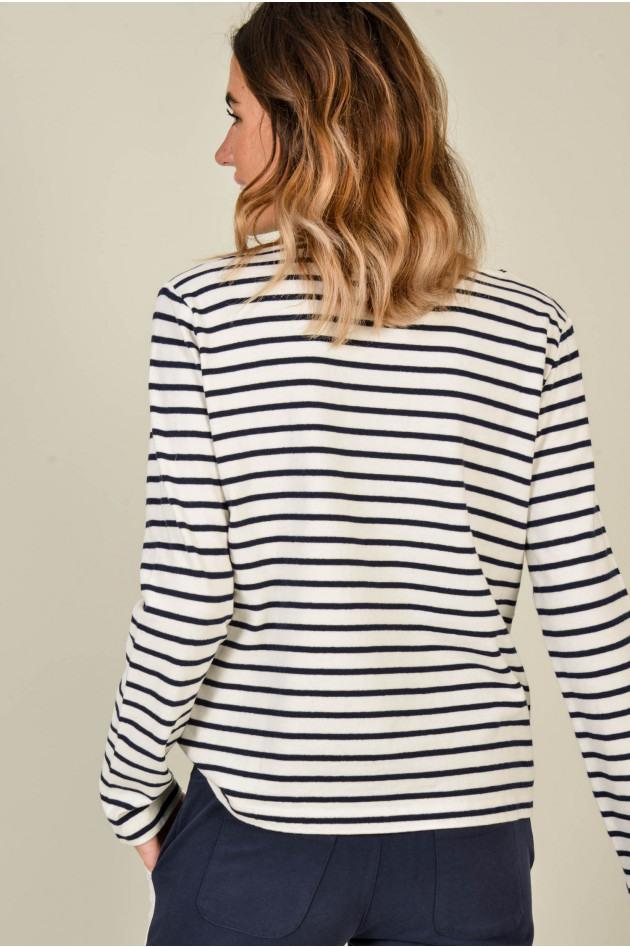 Juvia Sweater Aus Baumwolle In Navy/Weiß Gestreift