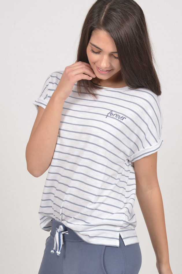 Juvia T  Shirt In Blau/Weiß Gestreift  Gruenerat
