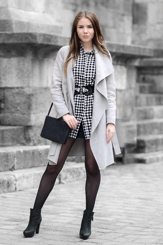 Karo Fashion Trend Hemdkleid Mit Karomuster  Therubinrose
