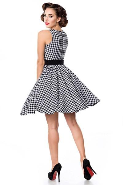 Karokleid Ärmellos In Retro Stil Mit Petticoat Und Gürtel