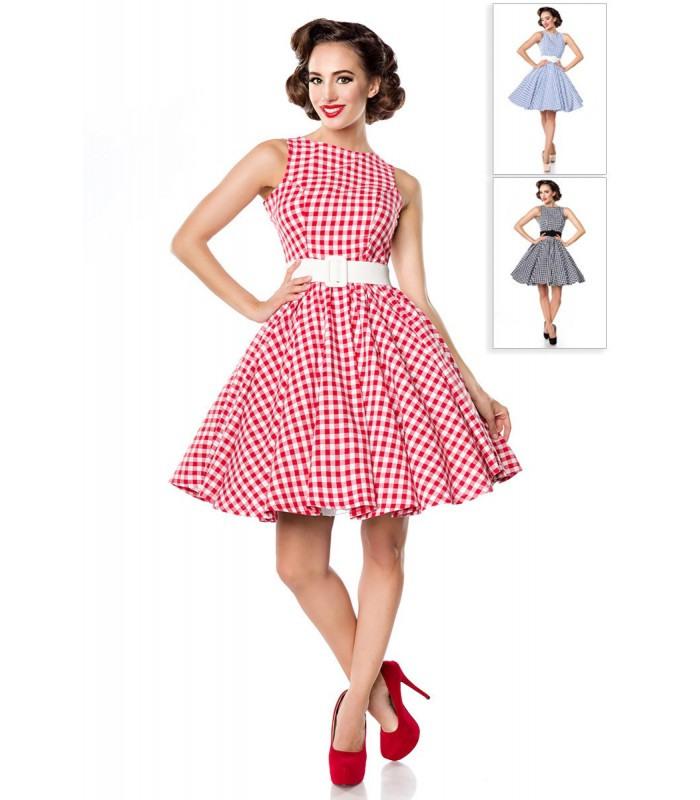 Karokleid Rot/Weiß  At50049  Fashionmoon