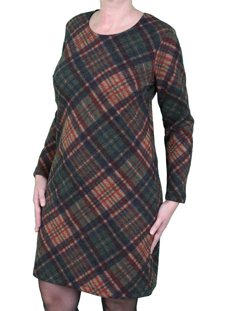 Karriertes Kleid In Herbstfarben  Exquisites Von Julia