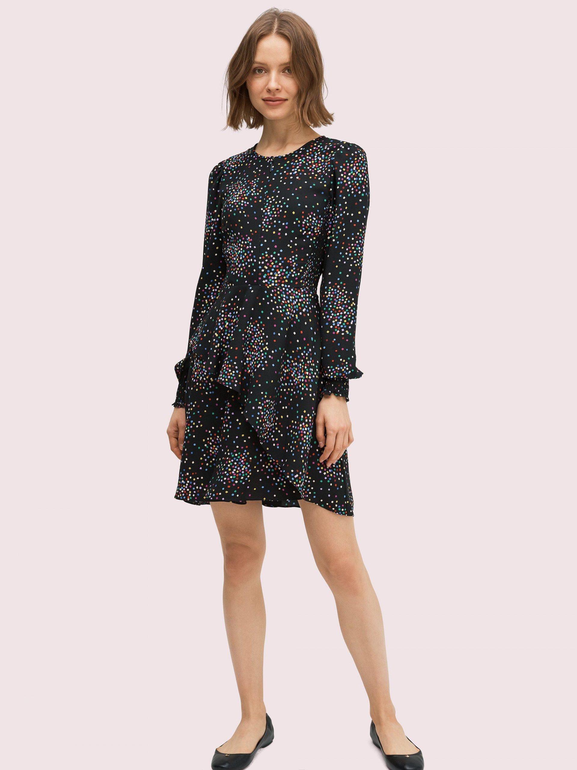 Kate Spade Synthetic Confetti Cheer Gesmoktes Kleid In