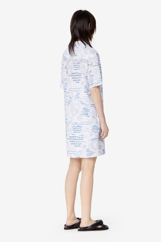 Kenzo Damen Blusenkleid Weiß  Sailerstyle