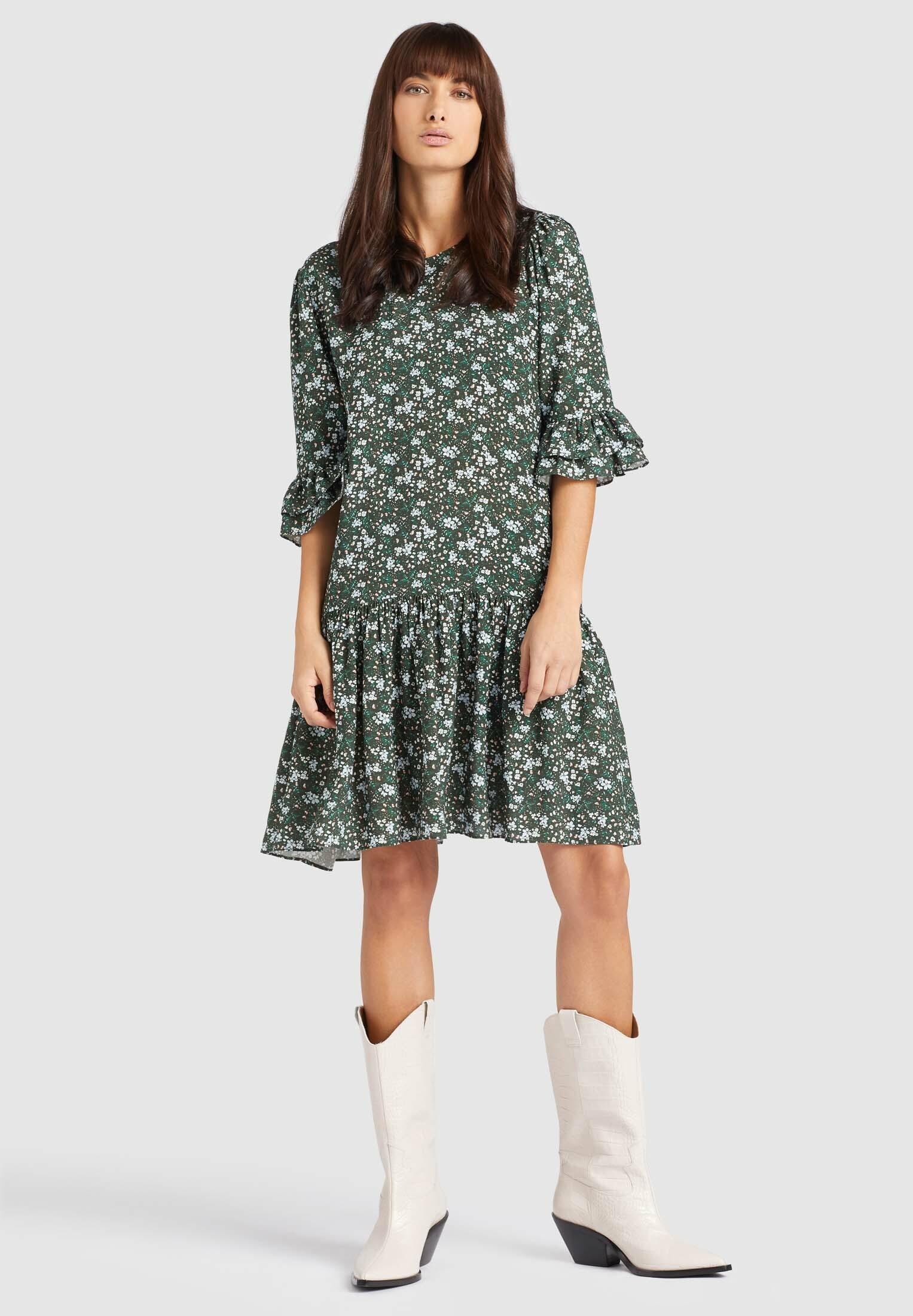 Khujo Frema Damen Kleid  Kleider  Bekleidung  Damen