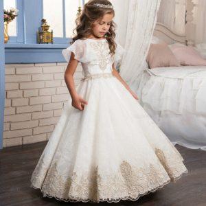 Kids Infant Mädchen Appliques Formale Kleid Kinder