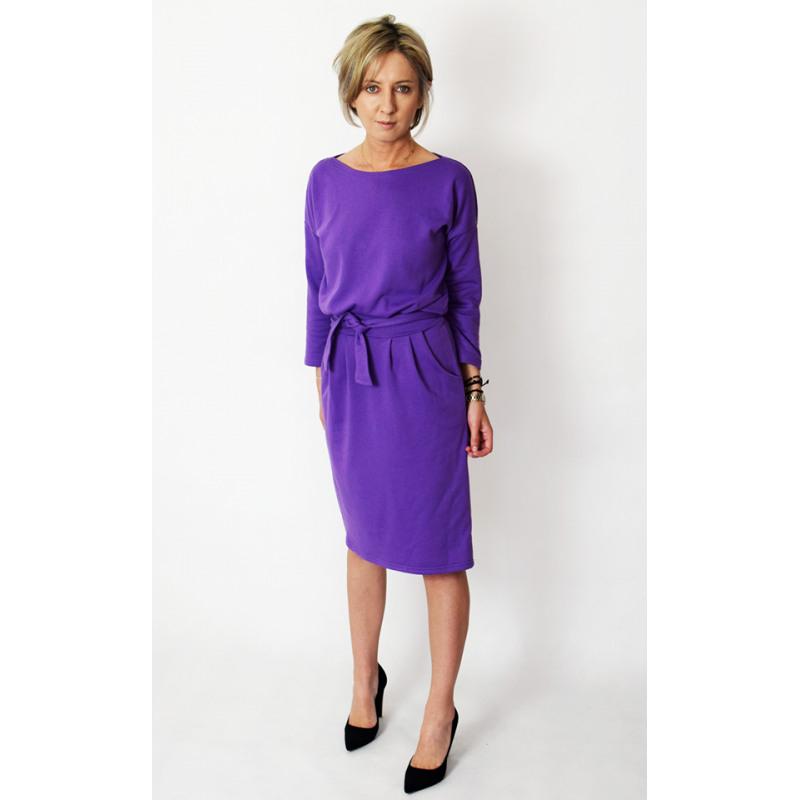 Kika  Midi Strickkleid Baumwolle Damen  Violett