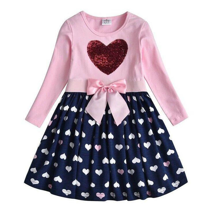Kinder Kleid Gr 122 Mädchen Langarmkleid Jersey Tunika