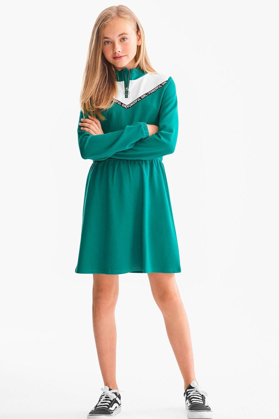 Kinder  Kleid  Grün / Cremeweiß In 2020  Kleider