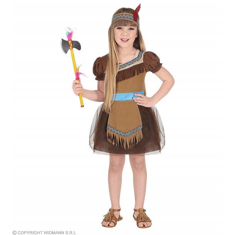 Kinder Kostüm Indianerin Kleid Stirnband Für Mädchen 116