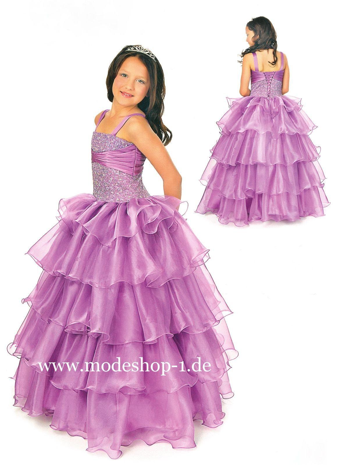 Kinder Mode Mädchenkleid Annemona Lila Flieder Violett Www