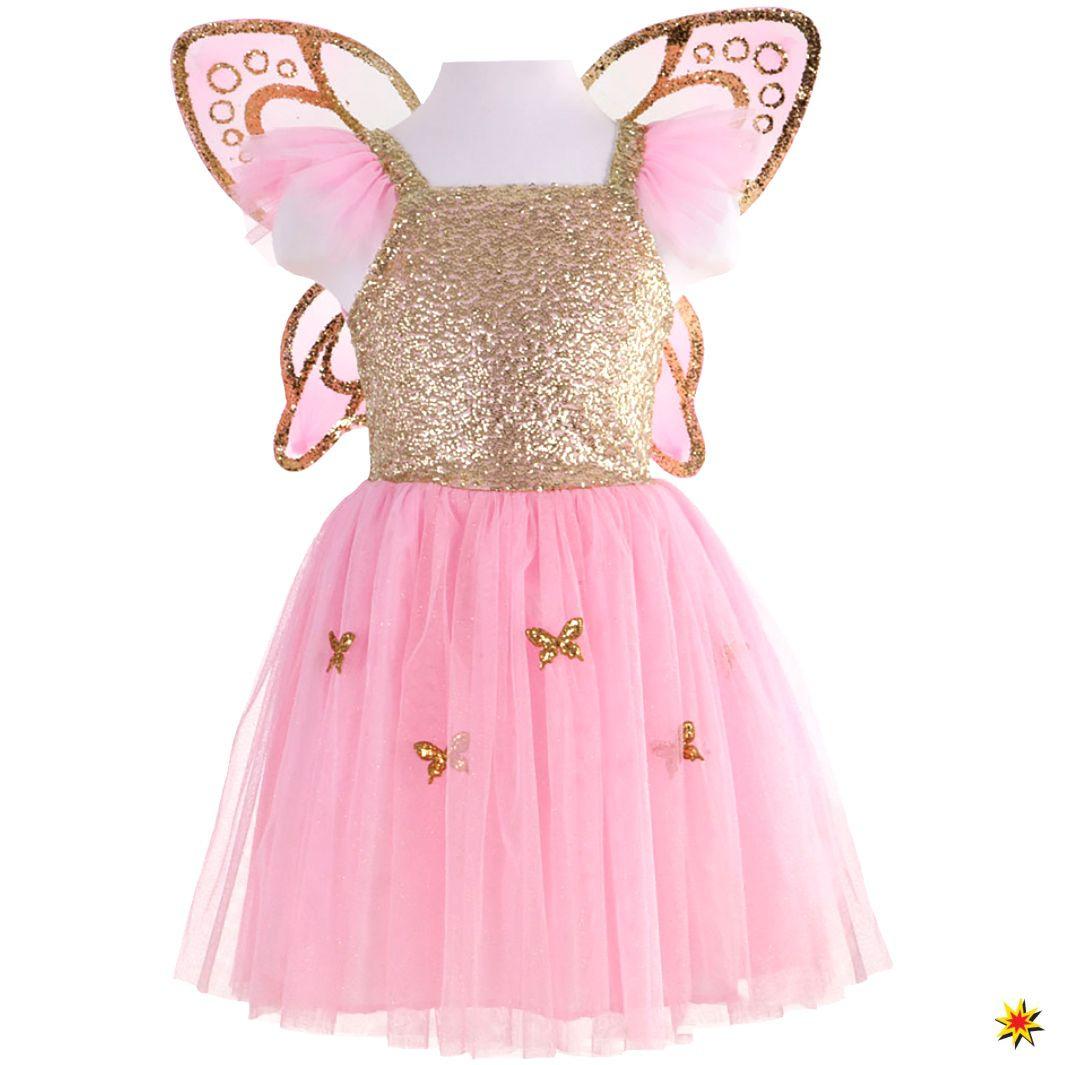 Kinder Schmetterlingskleid Rosa Mit Flügel Mit Bildern