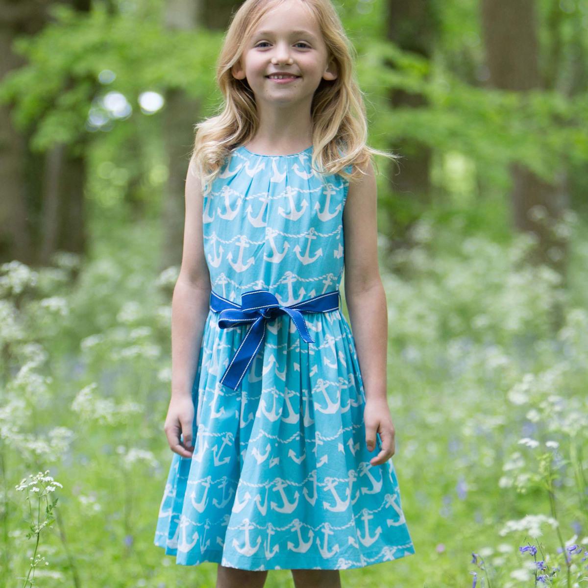 Kinder Sommerkleid Ökobaumwolle Tuerkis  Devanatur