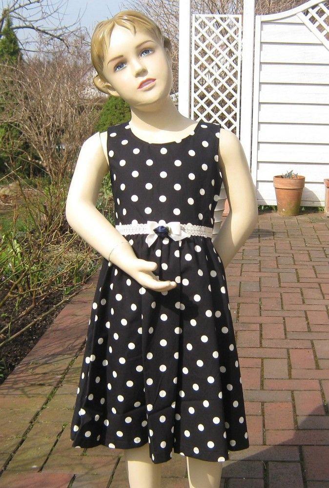 Kinderit Blumenkind Mädchen Fest Kleid Dot