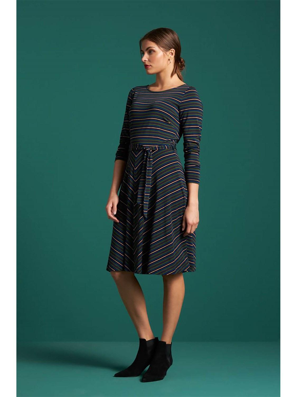 King Louie Damen Alinie Kleid Betty Dress Elmore Stripe