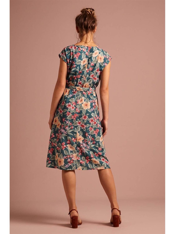 King Louie Damen Alinie Kleid Betty Loose Fit Dress St Kitt