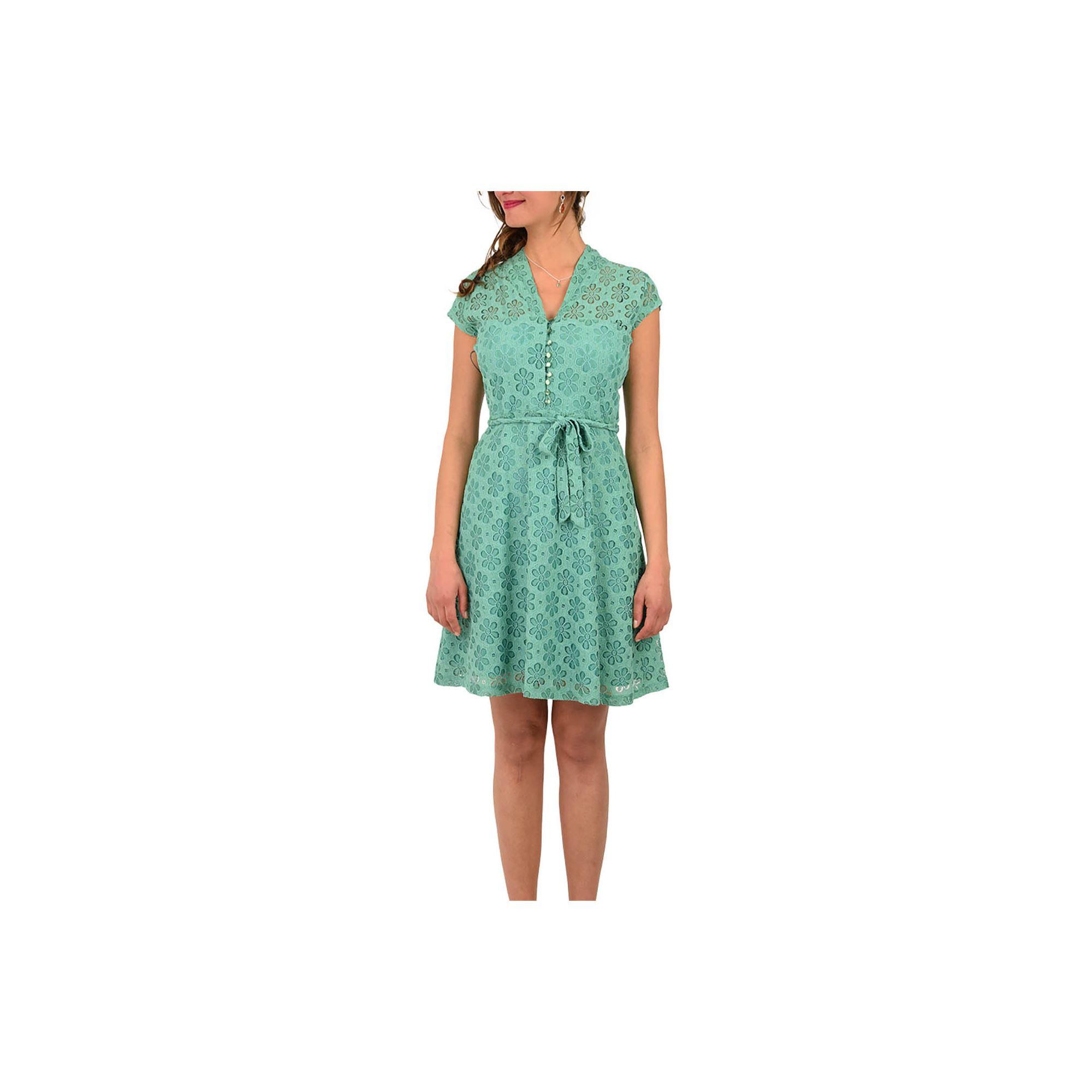 King Louie Kleid Emmy Dress Uni Lace Opal Green