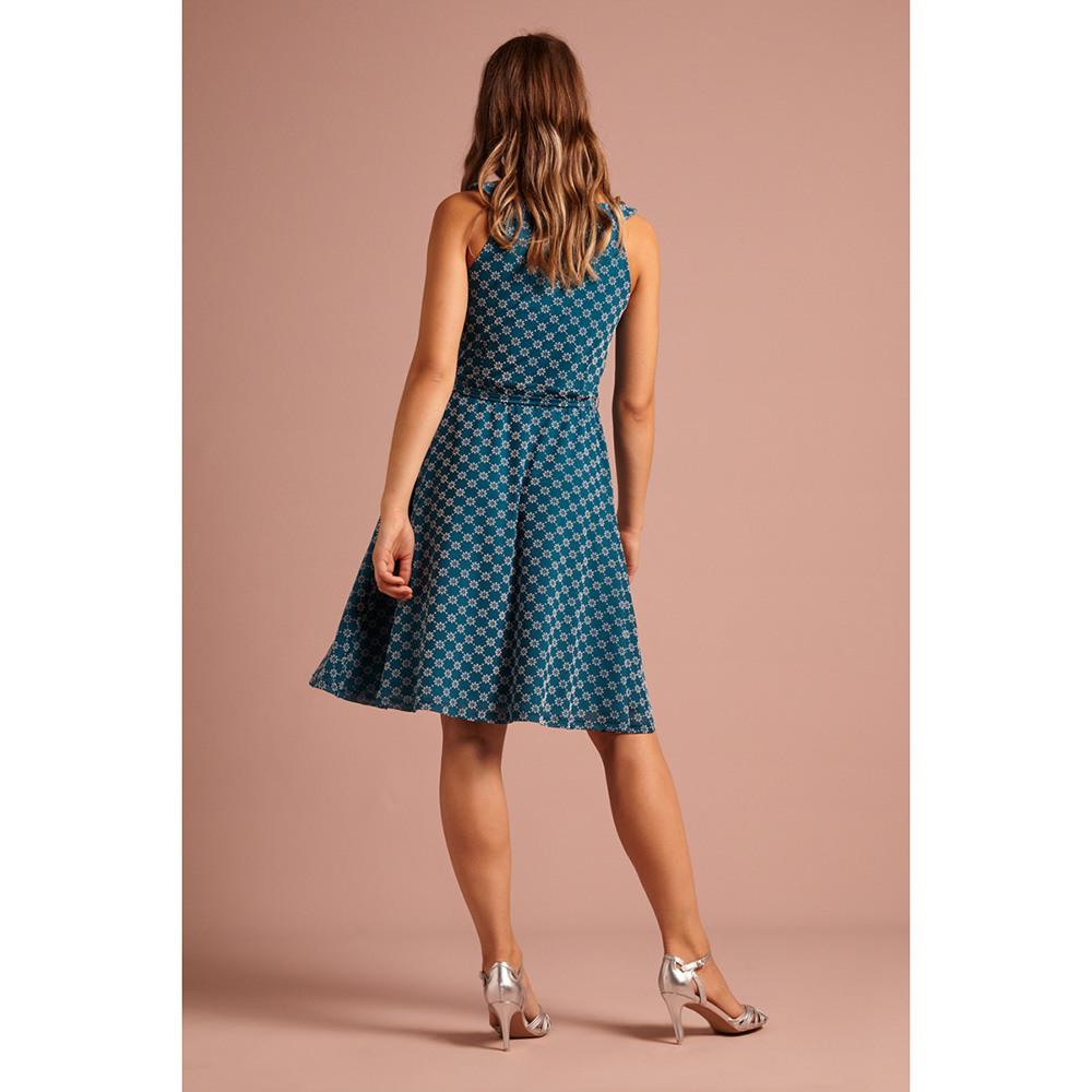 King Louie  Tilly Dress Keylime  Damen Kleid  Bay Blue