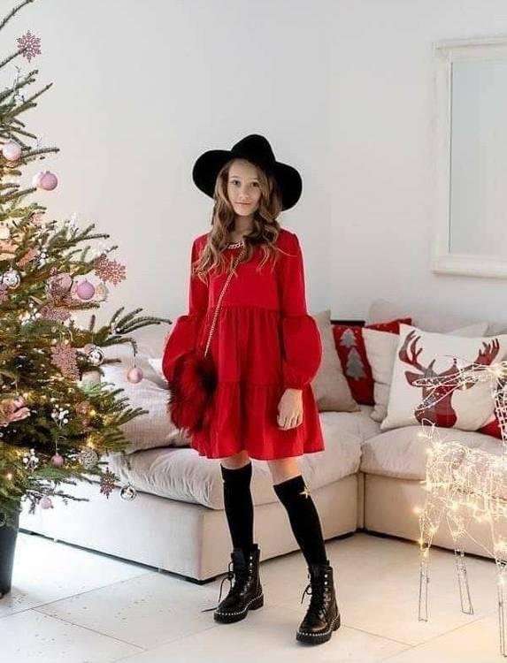 Kizz Weihnachtskleid Rot  Mädchen  Kleider  Elegante