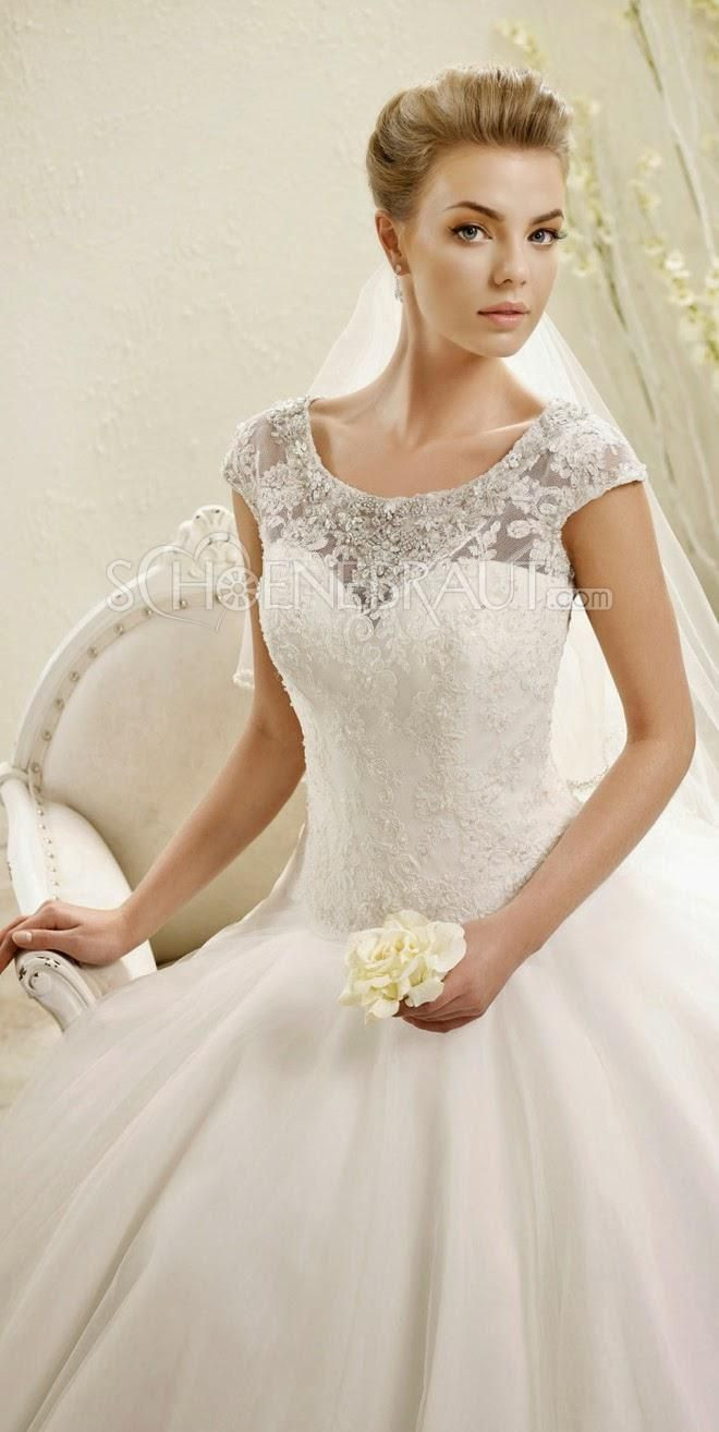 Klassisch Brautkleider Elegant Spitze Hochzeitskleid A