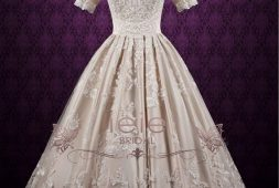 champagner-farbe-hochzeitskleid