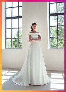 Klassische Satin Gürtel Schärpe Hochzeitskleid Elfenbein