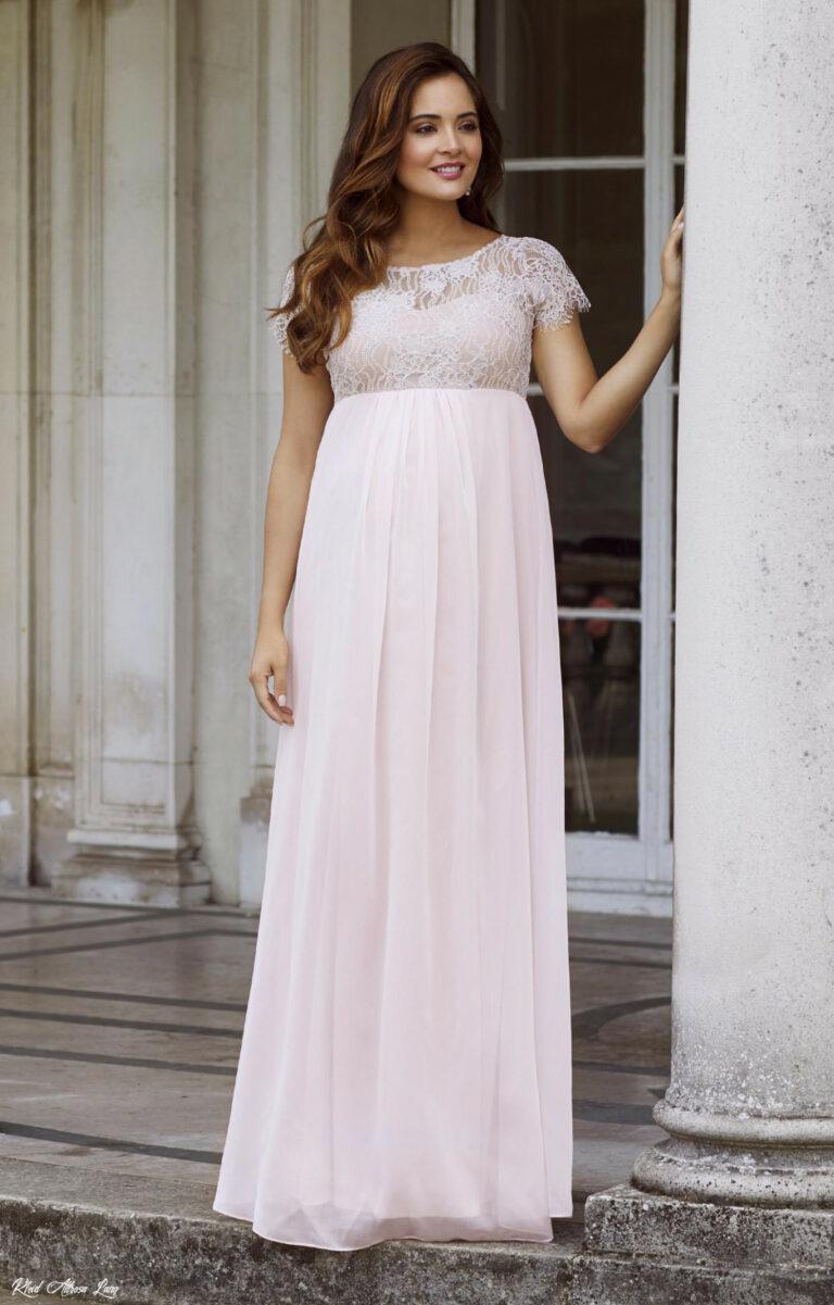 Kleid Altrosa Lang  Abendkleider