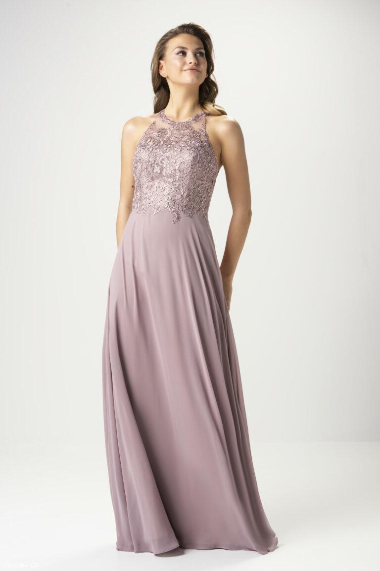 Kleid Altrosa Spitze  Abendkleider