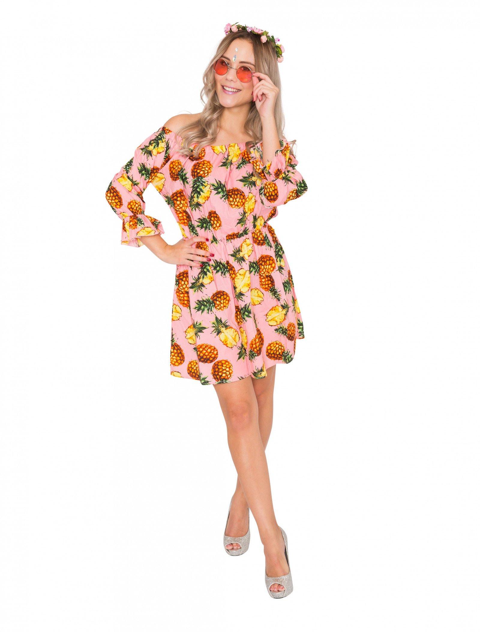 Kleid Ananas Pink Für Karneval  Fasching Kaufen » Deiters