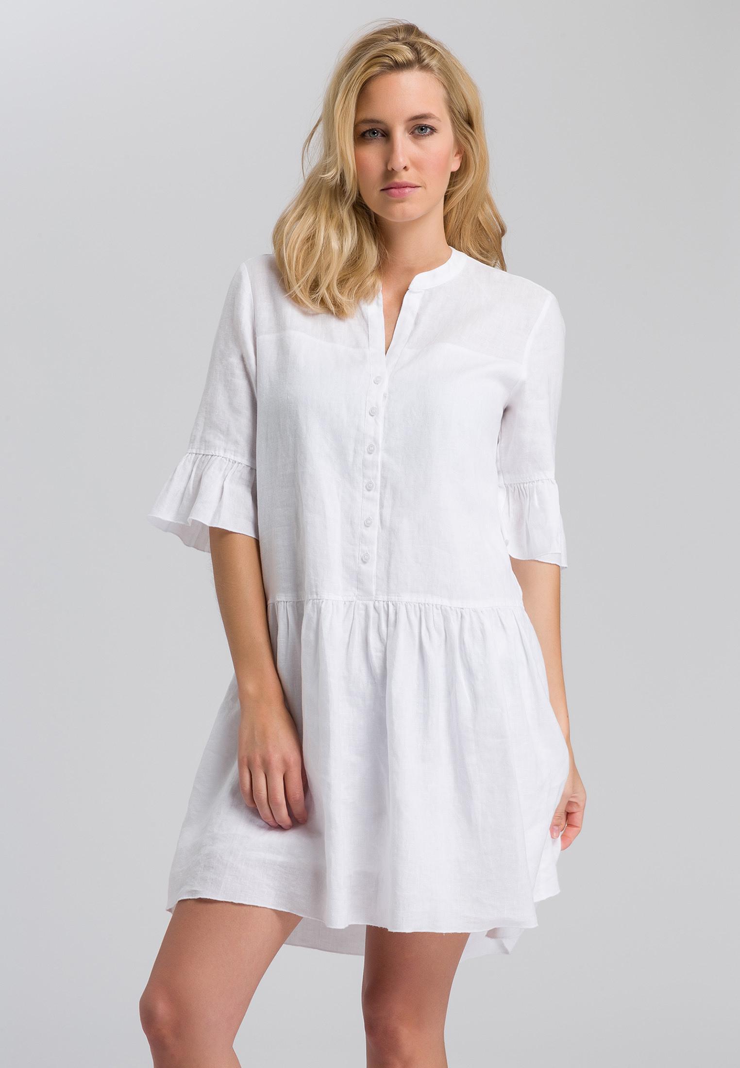 Kleid Aus Lässigem Leinen  Kleider  Röcke  Sale