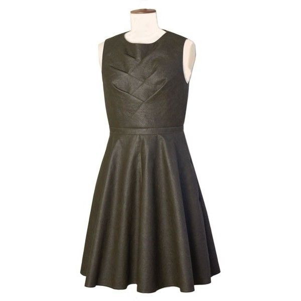 Kleid Aus Lederimitat Mit Origamidetail   Michaela
