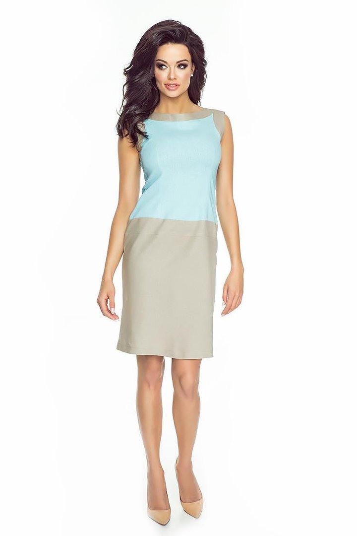 Kleid Aus Leinen Zweifarbig  Victoriav Online Shop
