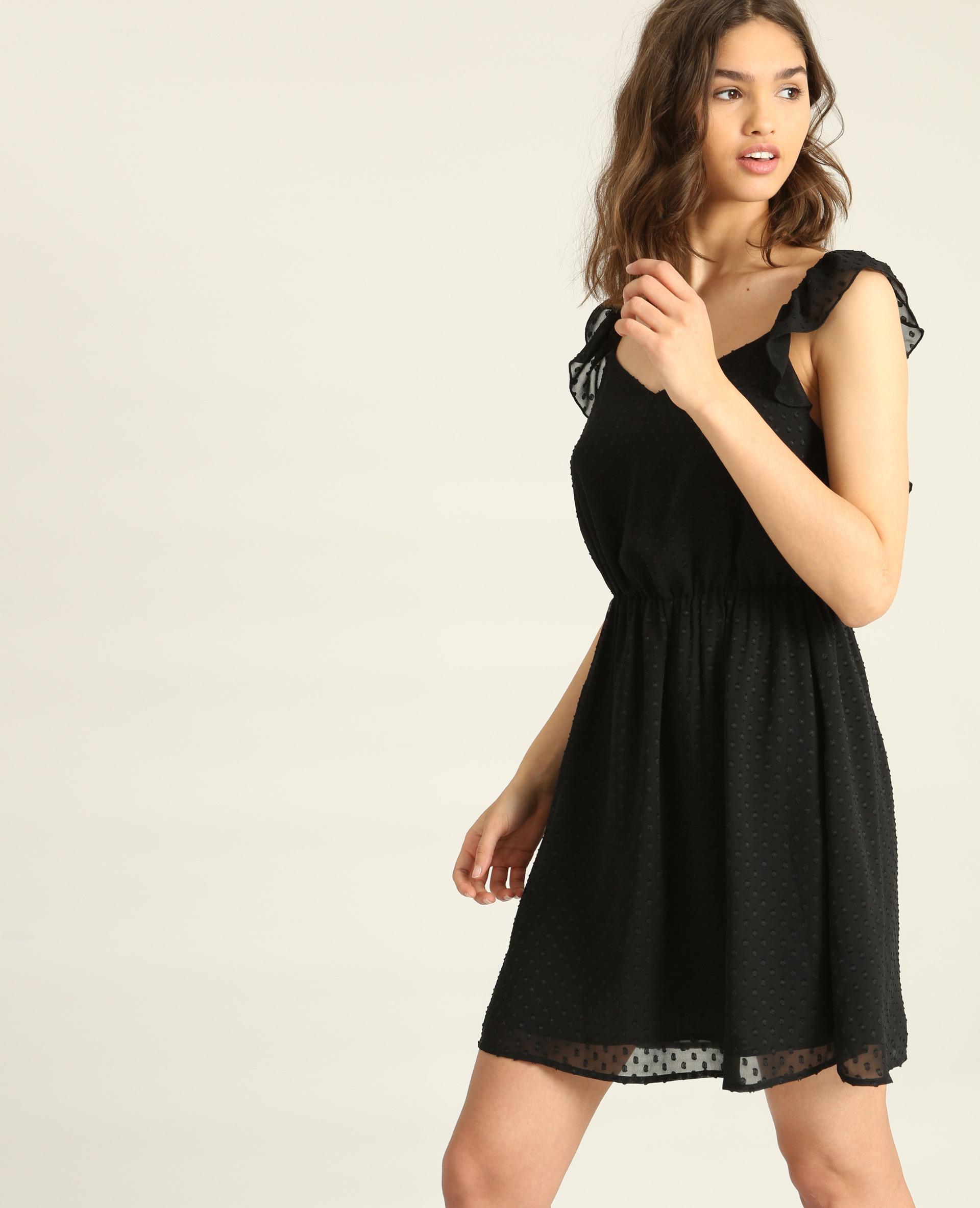 Kleid Aus Plumetis Schwarz  780860899A08  Pimkie