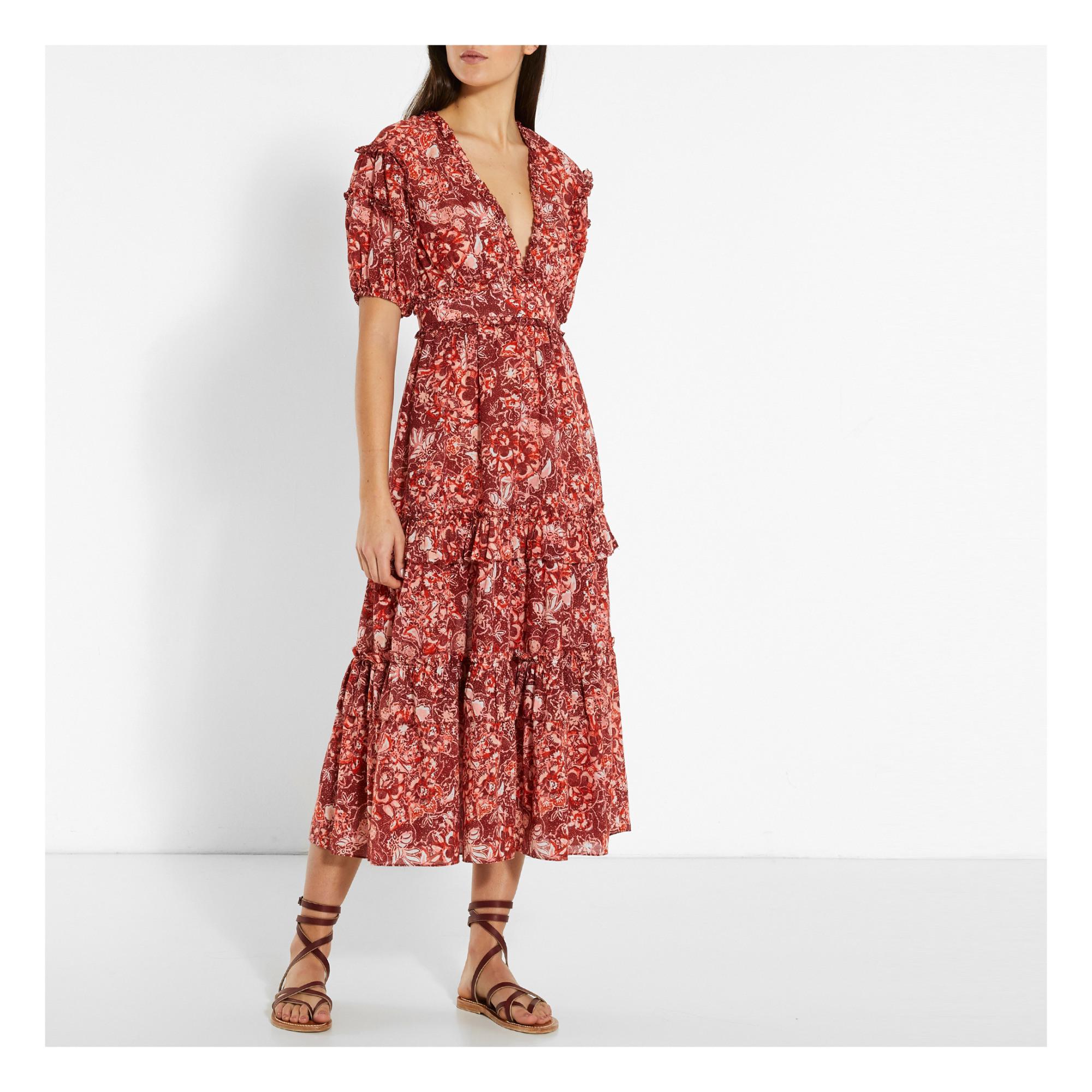 Kleid Aus Seide Und Baumwolle Amora Rot Ulla Johnson Mode
