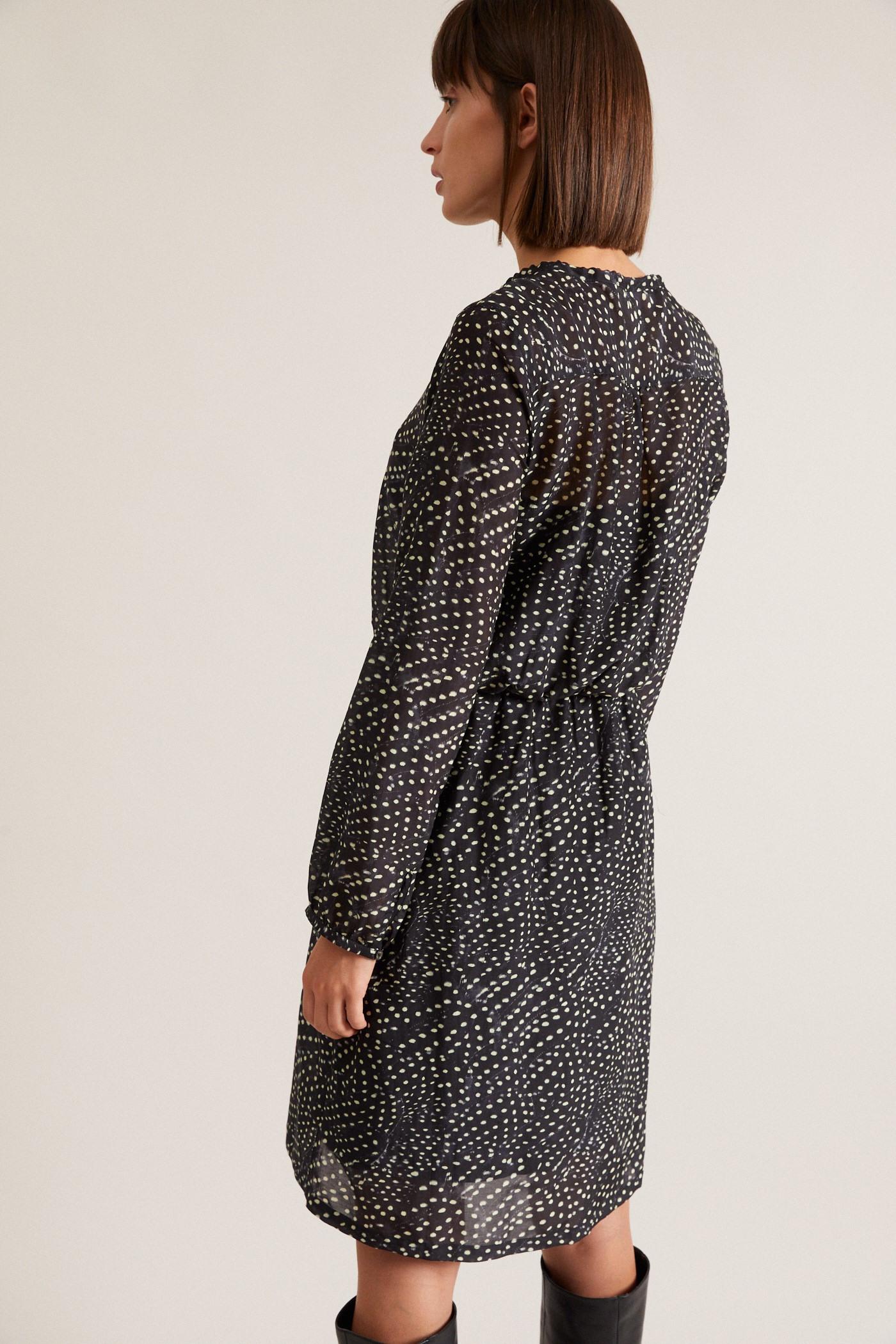 Kleid Aus Seide Und Biobaumwolle Von Lanius  Jill Green Gmbh
