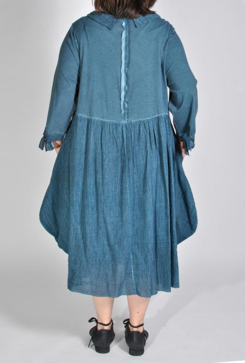 Kleid Batik Ballonkleid Marineblau Xadoo Lagenlook Plus