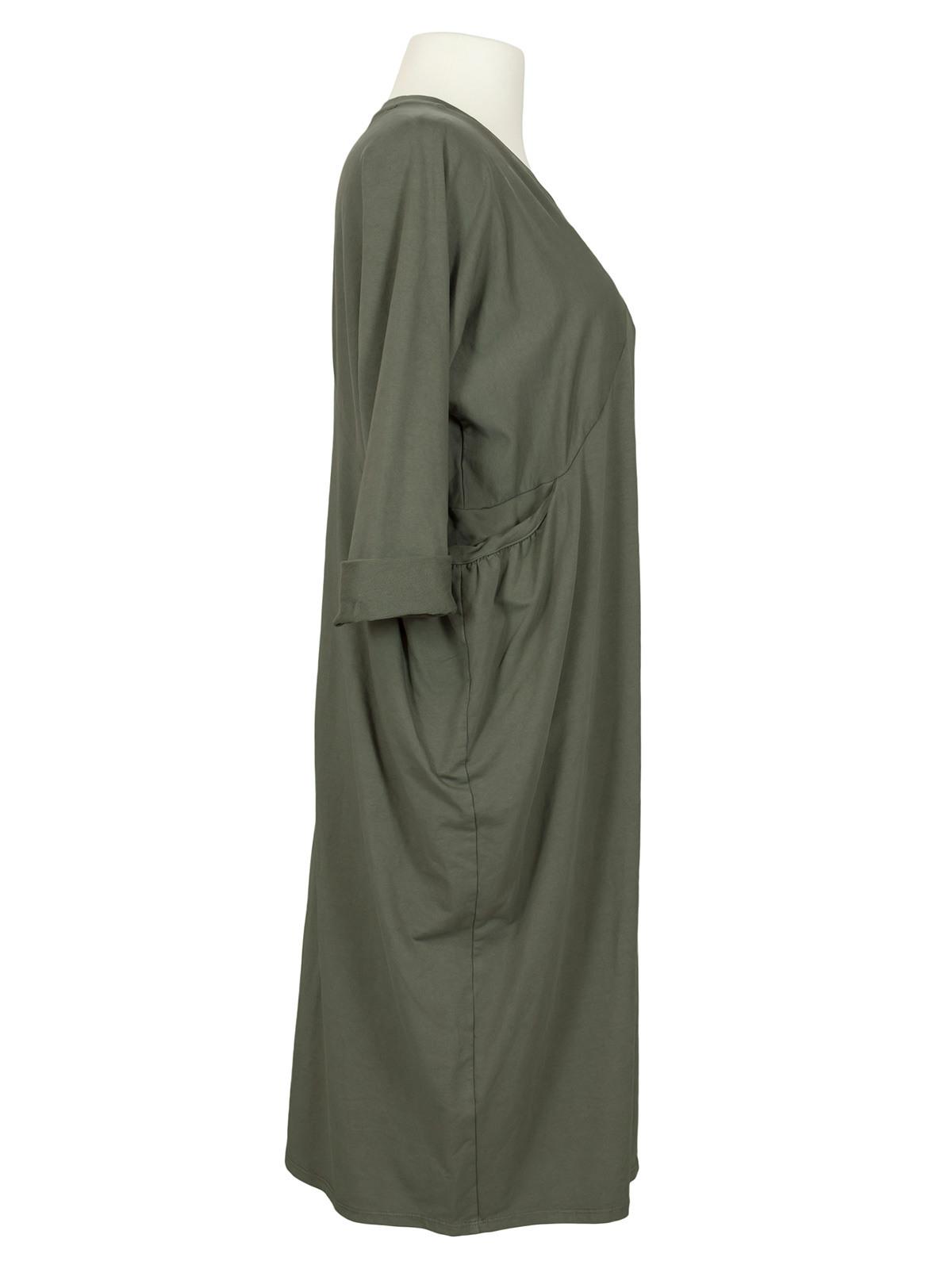 Kleid Baumwolljersey Khaki Von Wendy  Meinkleidchen
