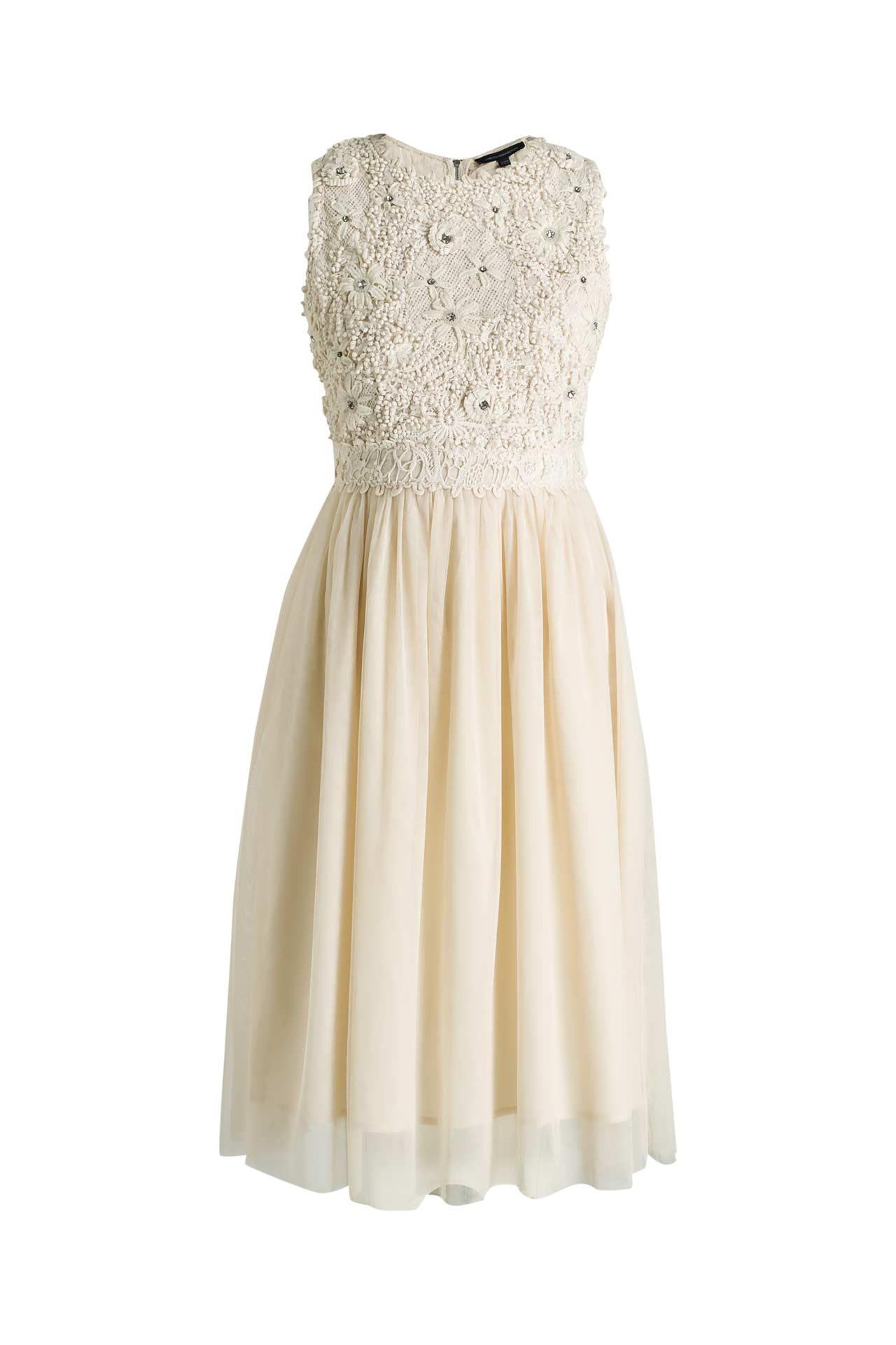 Kleid Beige  French Connection » Günstig Online Kaufen